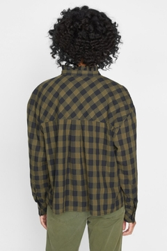 Sanctuary All About The Ruffle Tonal Check Shirt - Alternate List Image
