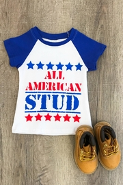 Lady's World All American Tee - Front cropped