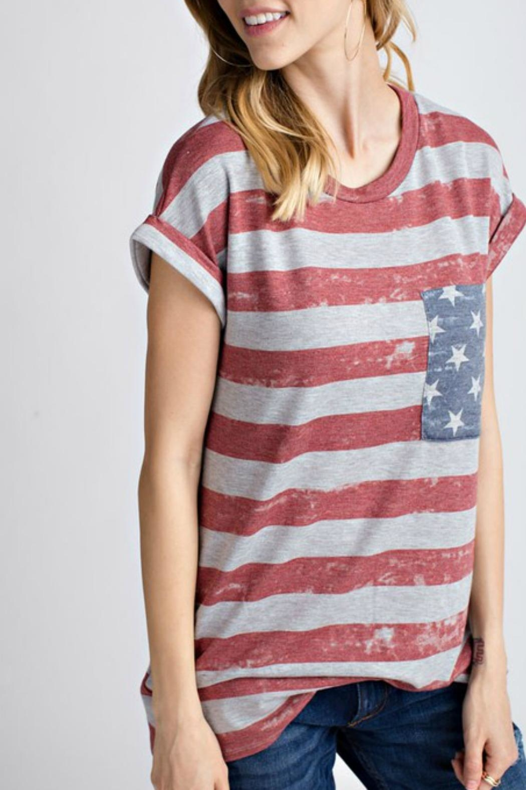 12pm by Mon Ami All American Tshirt - Back Cropped Image