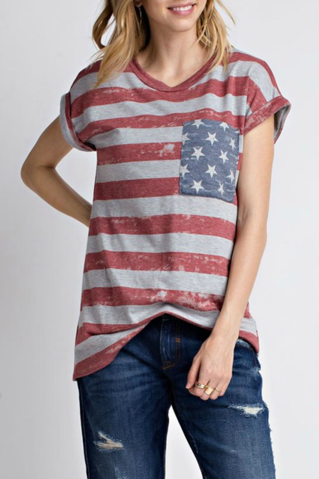 12pm by Mon Ami All American Tshirt - Side Cropped Image