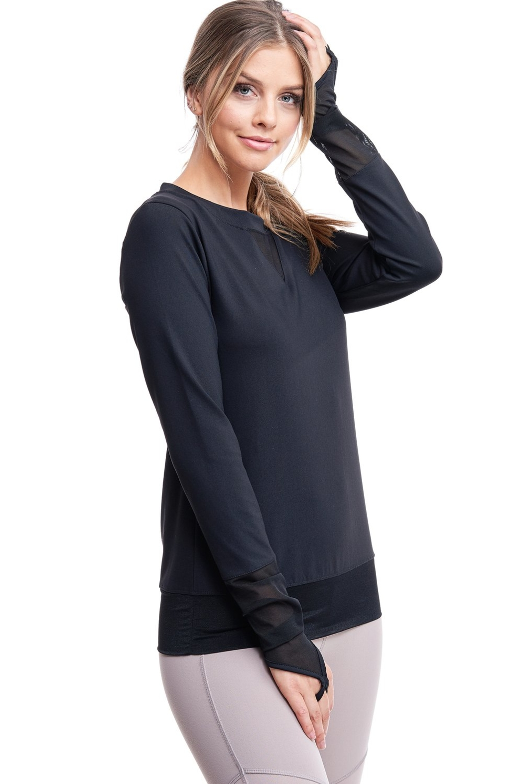 LAsociety All Angles Mesh Pullover - Front Full Image