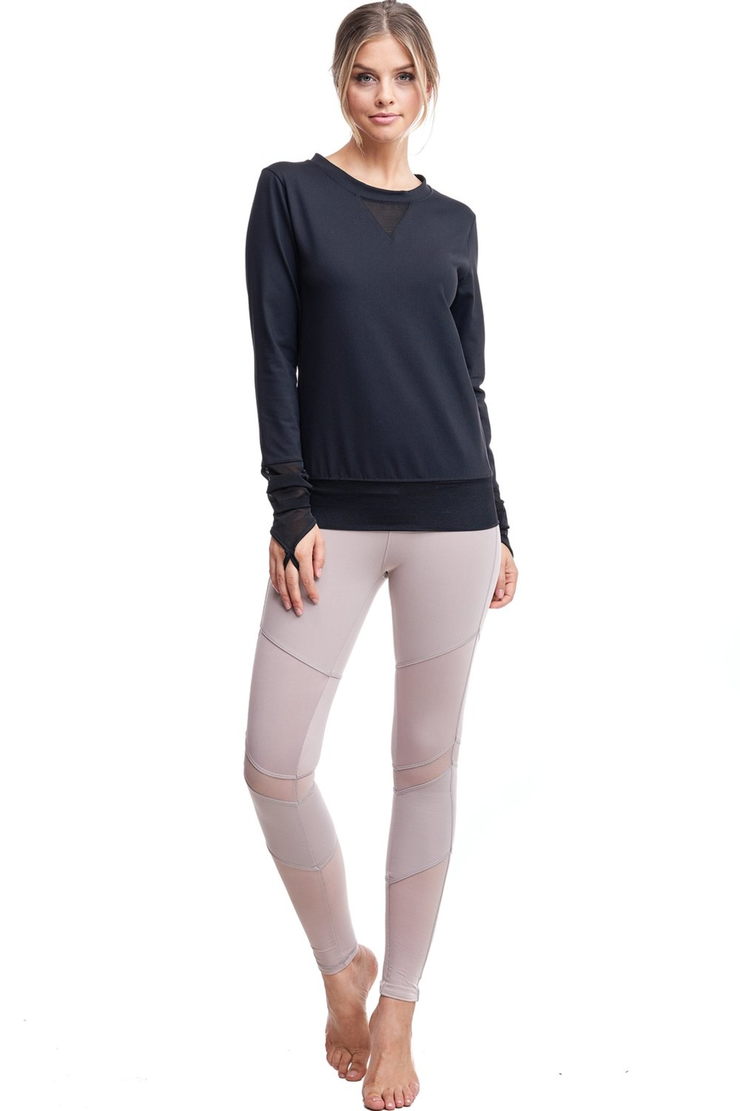 LAsociety All Angles Mesh Pullover - Back Cropped Image