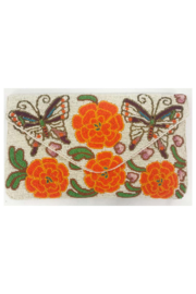 Ricki Designs All Beaded Ivory Multi Color Butterfly Floral Clutch - Product Mini Image