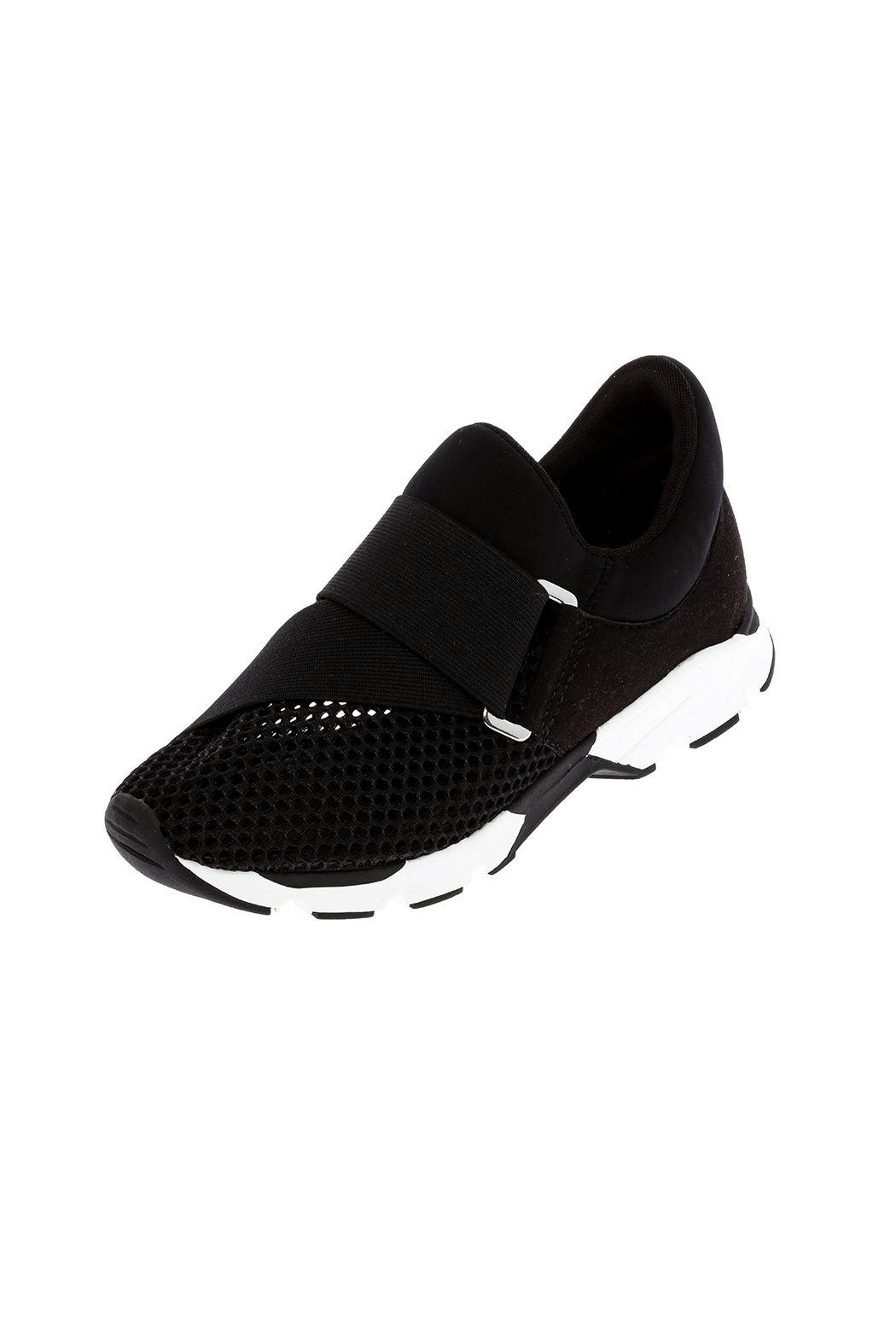 All Black Graphic Tie Sneaker - Back Cropped Image