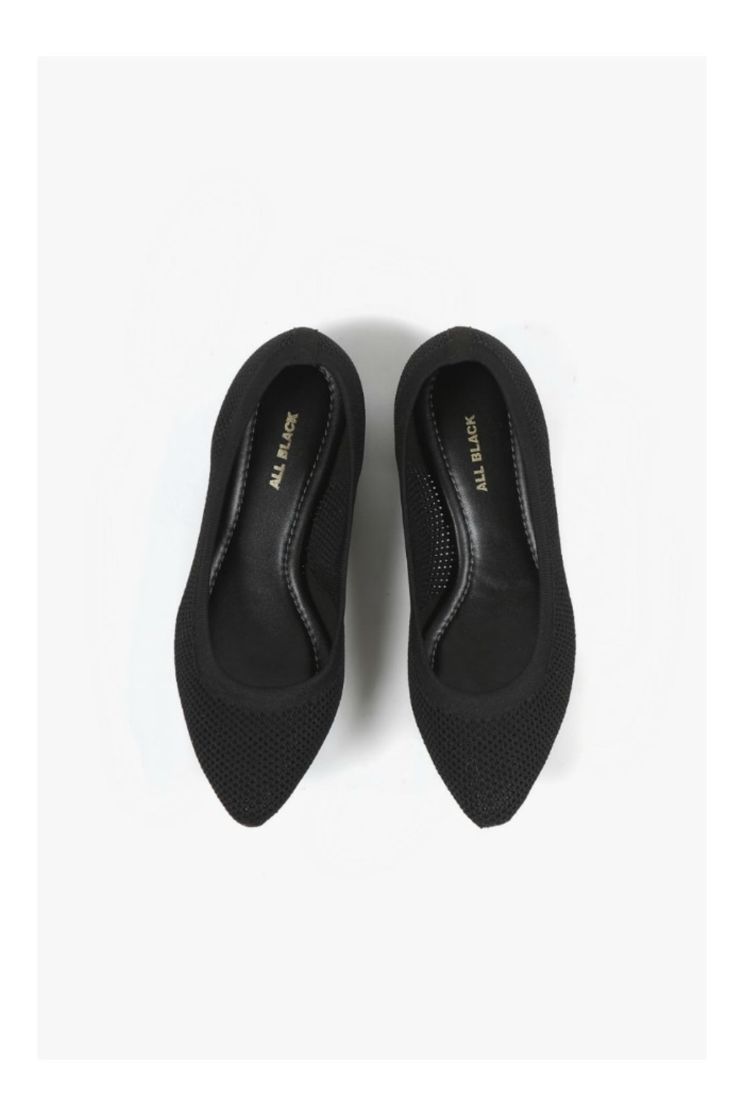 All Black Mesh Flat - Side Cropped Image