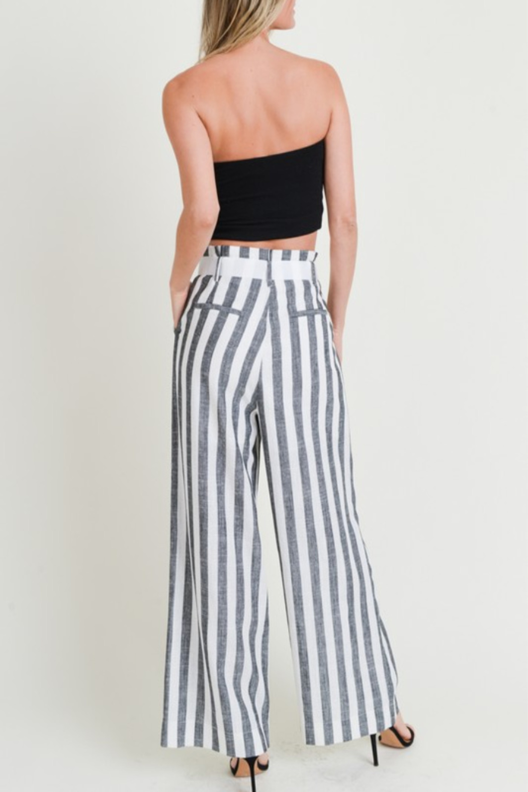 Doe & Rae All Classic Striped Pant - Side Cropped Image
