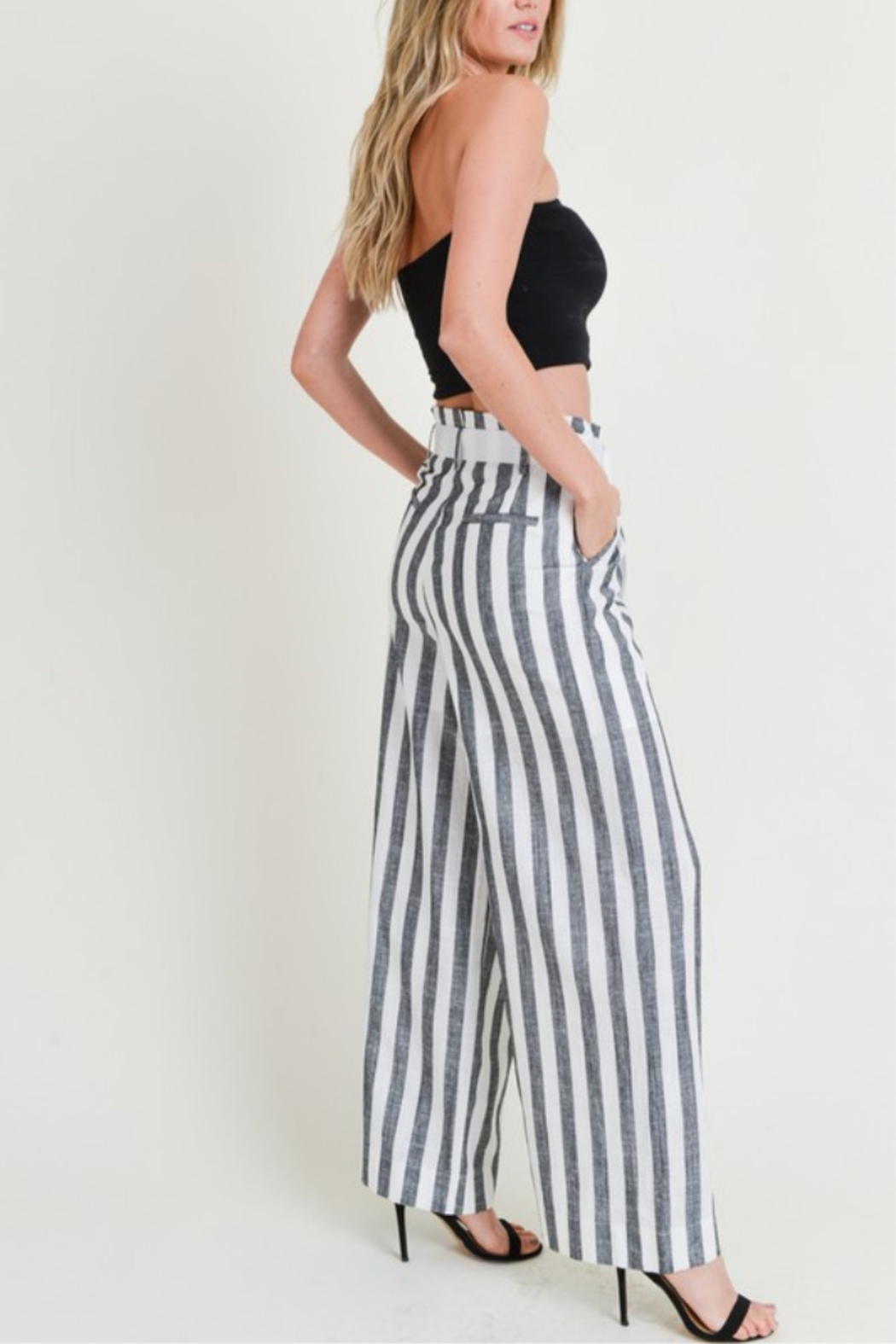 Doe & Rae All Classic Striped Pant - Front Full Image