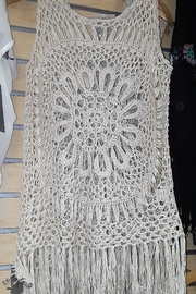 India Boutique All Crochet Top! - Front full body