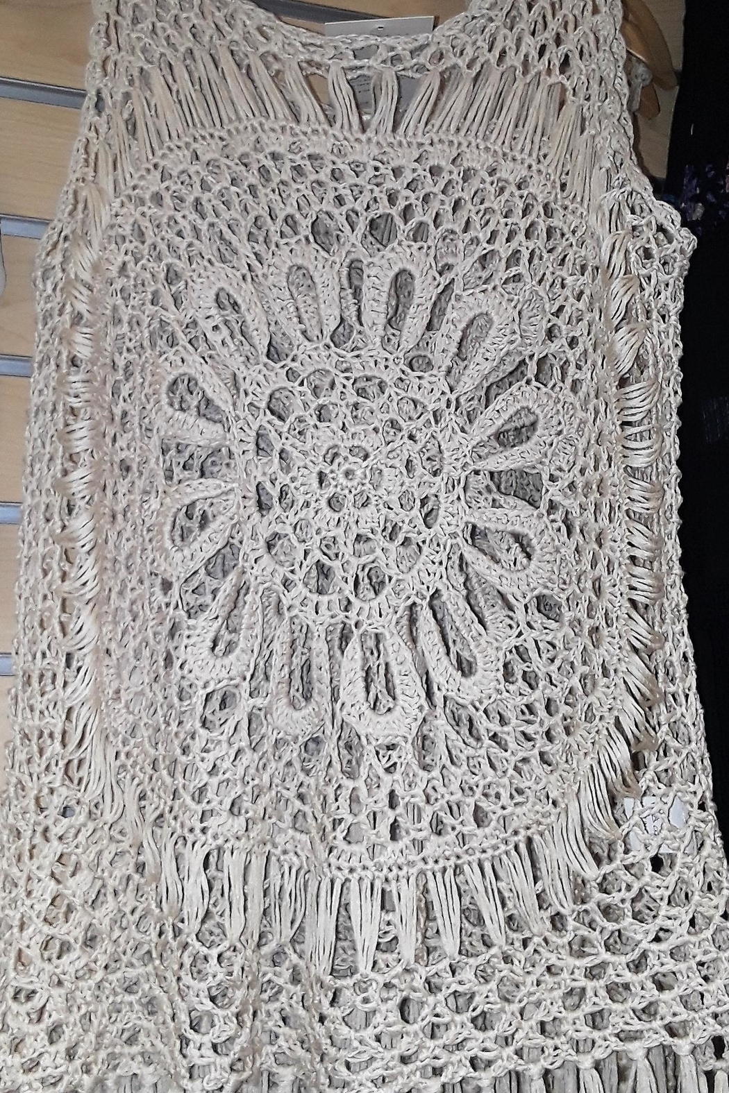 India Boutique All Crochet Top! - Side Cropped Image