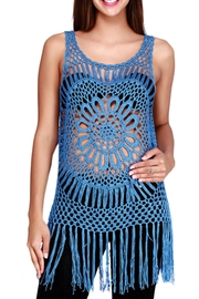 India Boutique All Crochet Top! - Front cropped