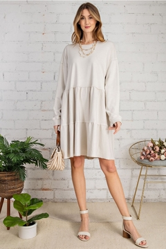 easel  All Day Cotton Egg Shell Dress - Product List Image