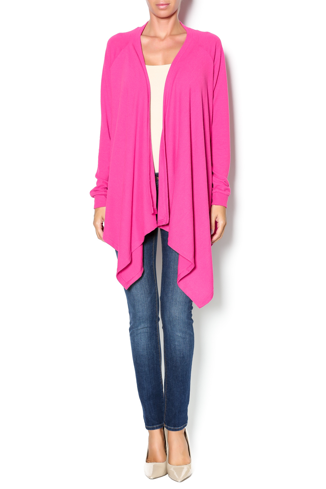 All For Color Pink Waterfall Cardigan from Louisville by Apricot ...