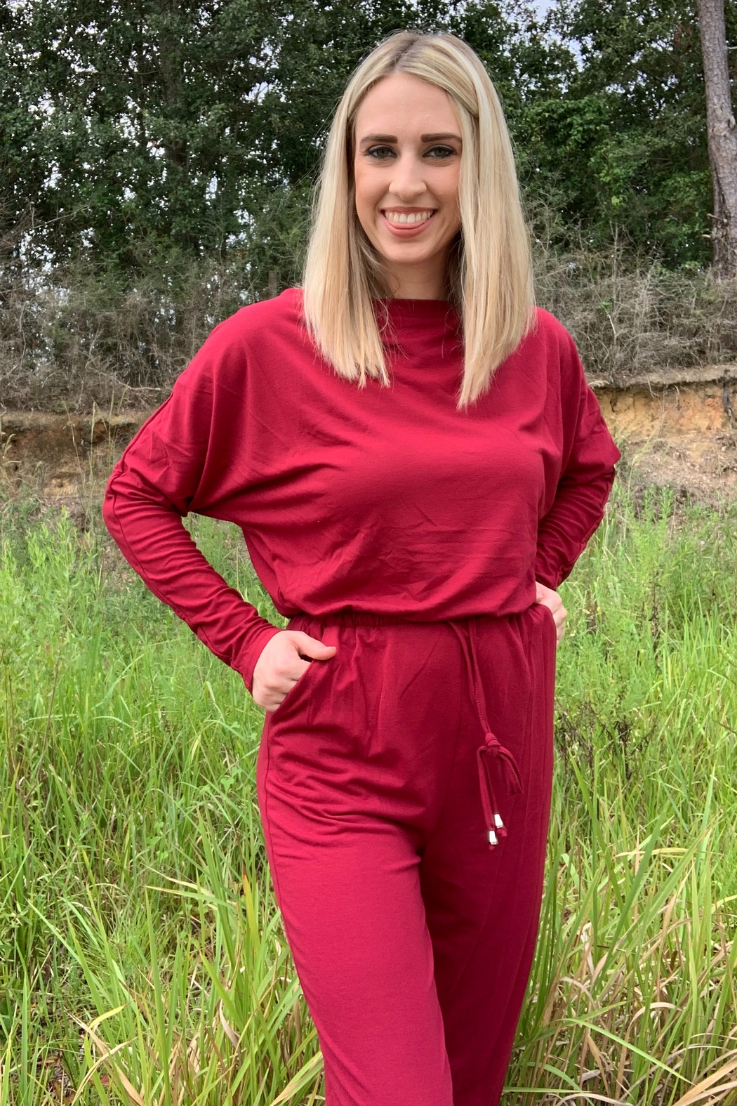Esley All For One Jumpsuit - Front Cropped Image