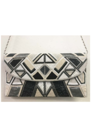 Ricki Designs All Geo. Beaded Multi Color Large Clutch - Front cropped