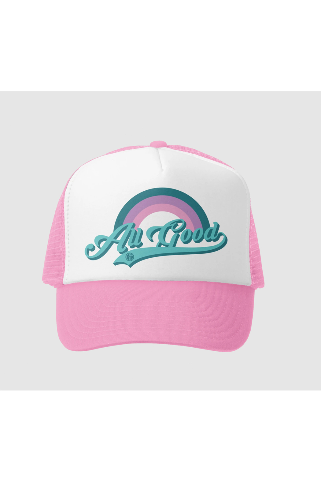 Grom Squad All Good Trucker Hat - Front Cropped Image