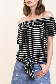 Umgee All In The Stripes Top - Product Mini Image