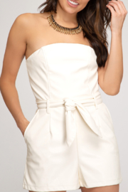 She and Sky All Night Romper - Front cropped