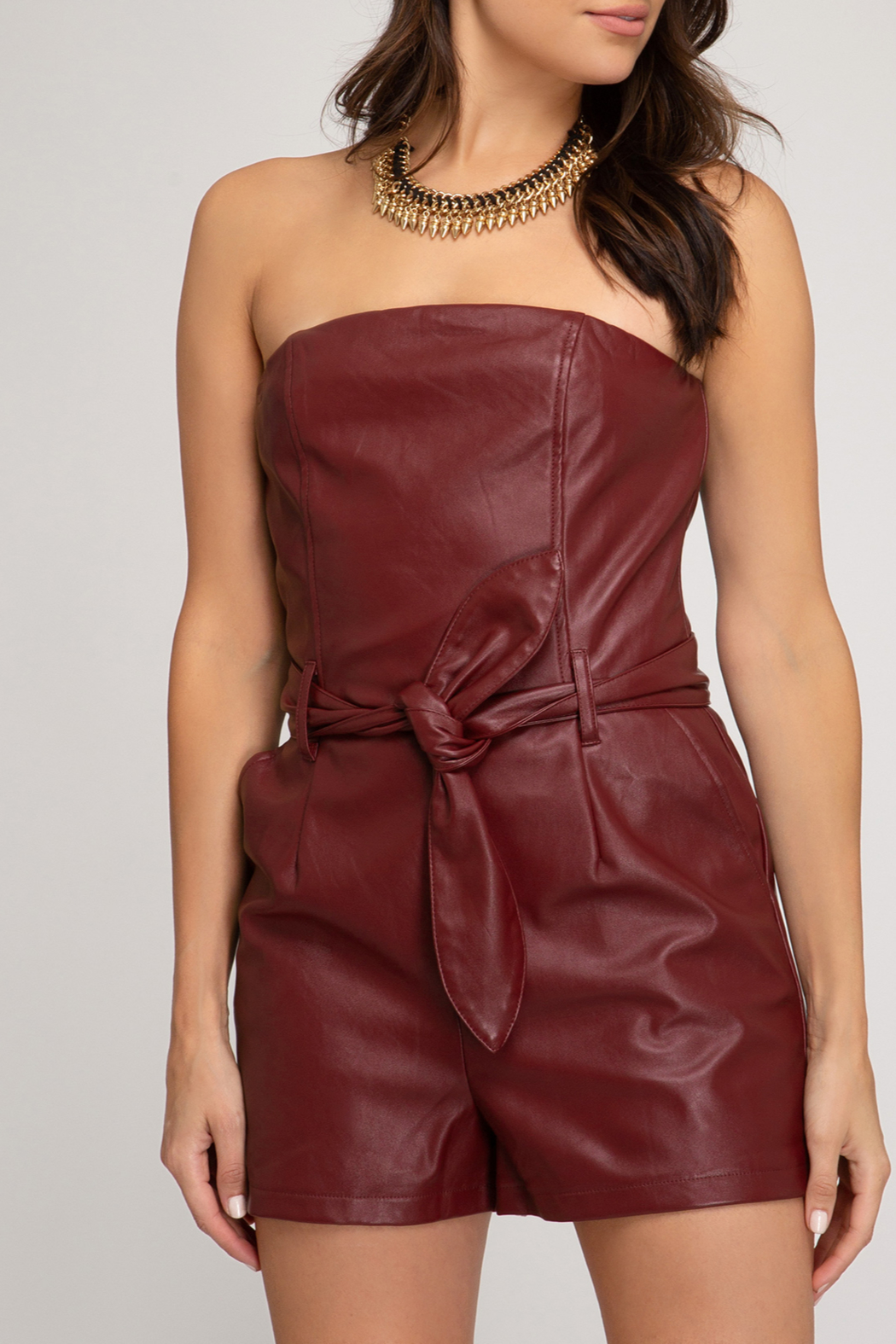 She and Sky All Night Romper - Front Cropped Image