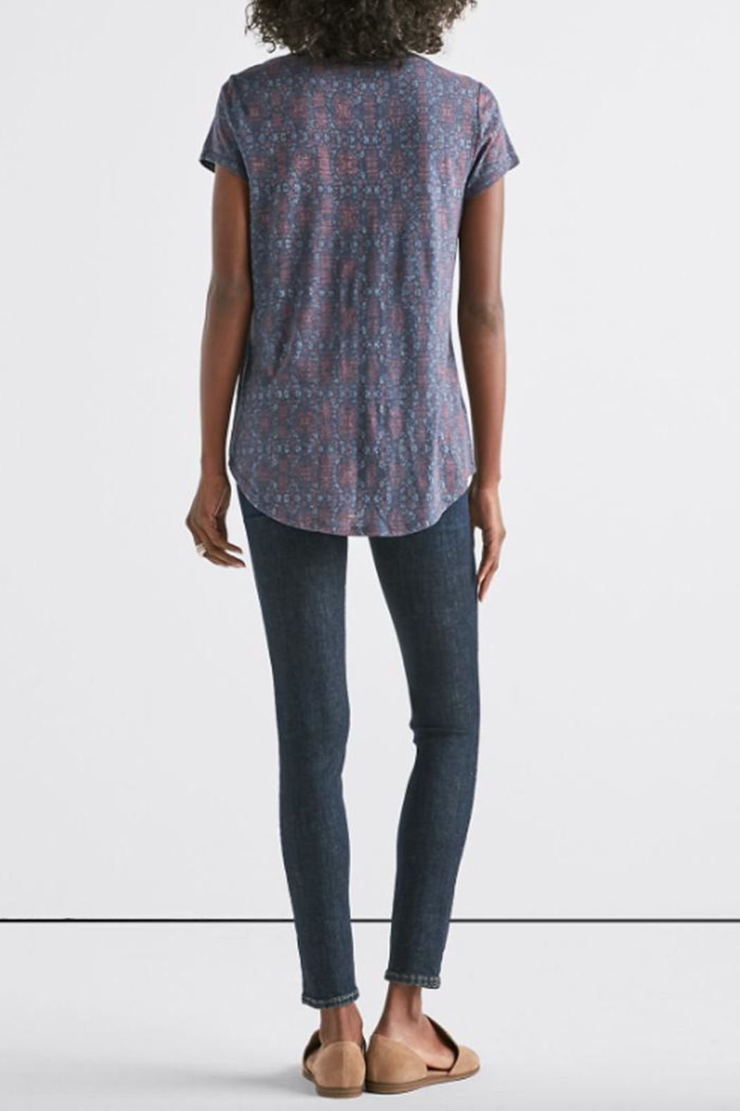Lucky Brand All-Over Print Tee - Side Cropped Image