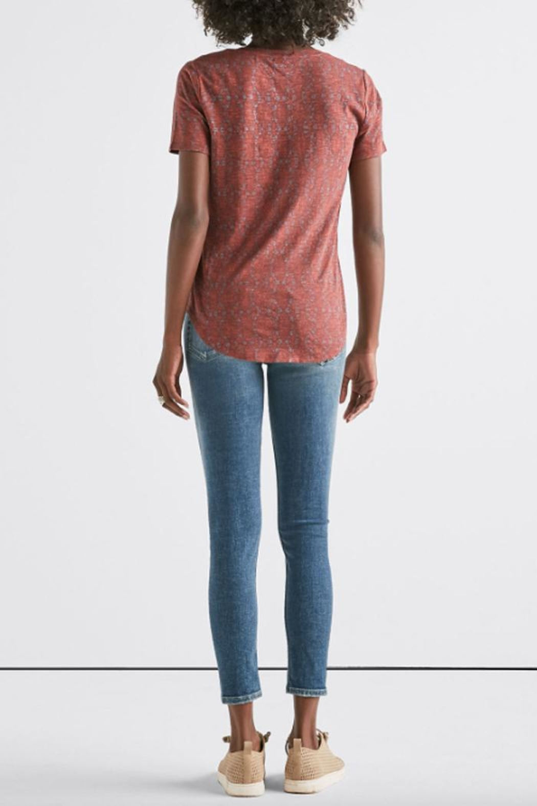 Lucky Brand All-Over Print Tee - Back Cropped Image