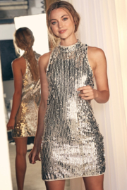 Do & Be All Over Sequin Halter Dress - Product Mini Image