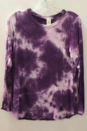 Trend:notes All over tie dye long sleeve top - Product Mini Image