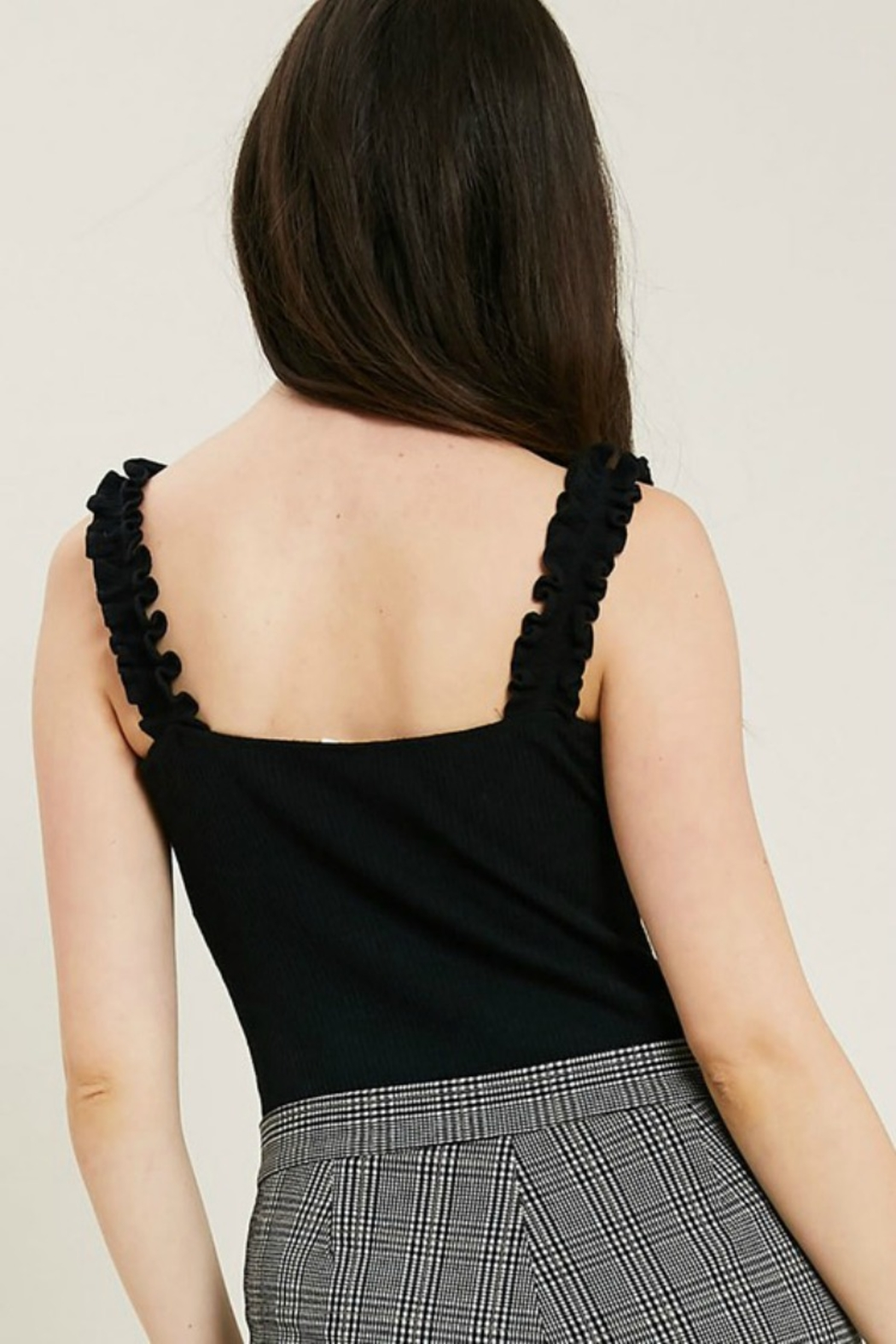 Wishlist ALL RUFFLED BODYSUIT - Side Cropped Image
