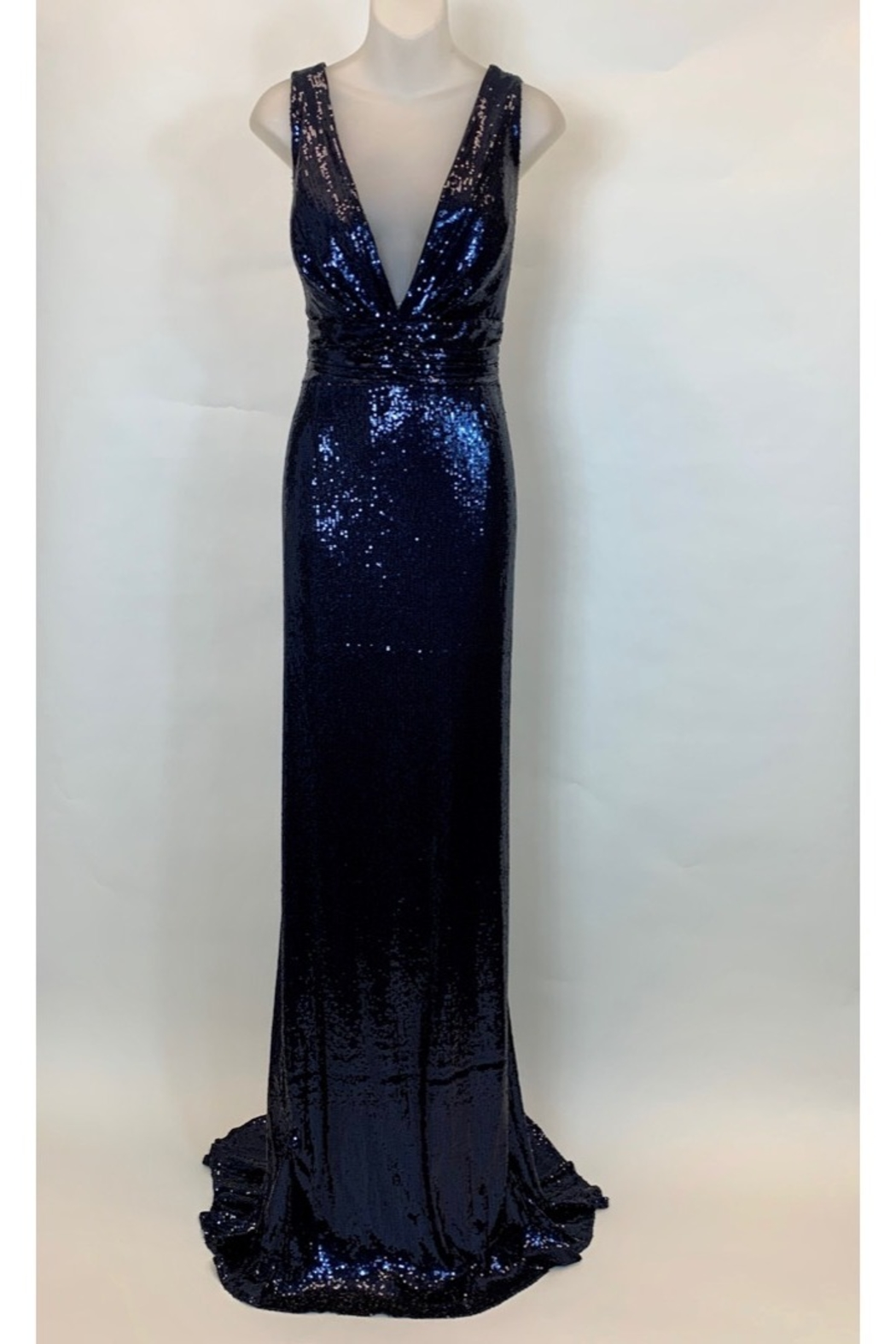 JUAN CARLOS PINERA ALL SEQUIN BLACK GOWN - Front Cropped Image