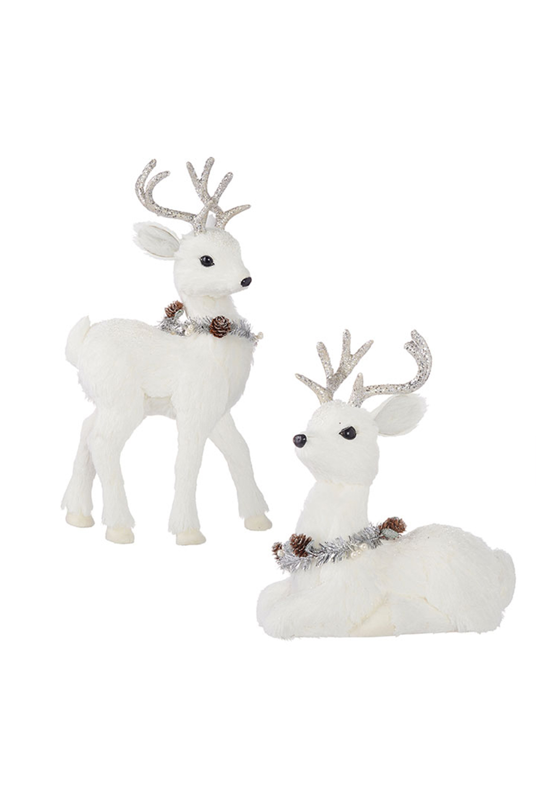 RAZ Imports All That Glistens Deer Decor 19.75