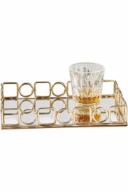 The Birds Nest ALL THAT JAZZ MIRRORED TRAY - Product Mini Image