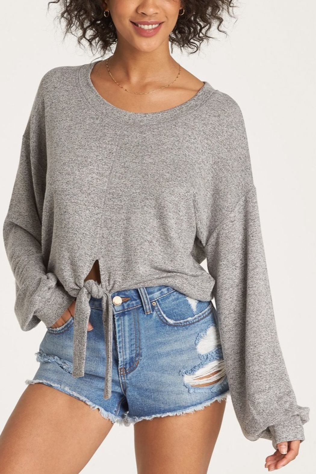 Billabong All Tied Up Pullover Sweatshirt - Front Cropped Image