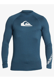 Quiksilver All Time Long Sleeve UPF 50 Rash Vest - Front cropped