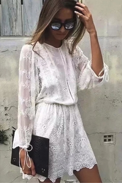 Racine All-White Lace Dress - Product List Image