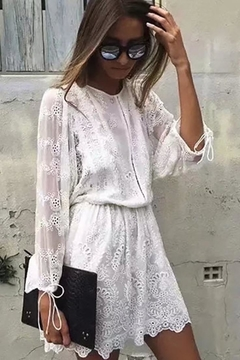 Racine All-White Lace Dress - Alternate List Image