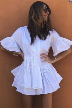 Racine All-White Resortwear Dress - Product List Image