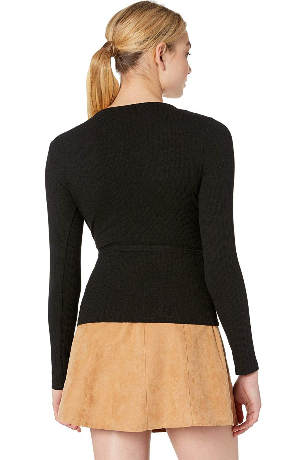 MINKPINK All Wrapped Up Surplice Top - Side Cropped Image