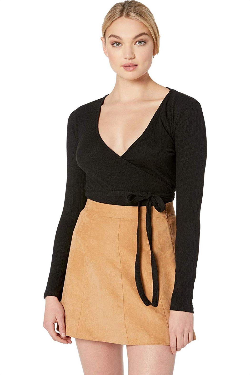 MINKPINK All Wrapped Up Surplice Top - Main Image