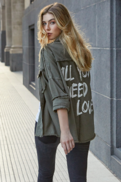 Elan  All You Need is Love Frayed Shacket - Product List Image