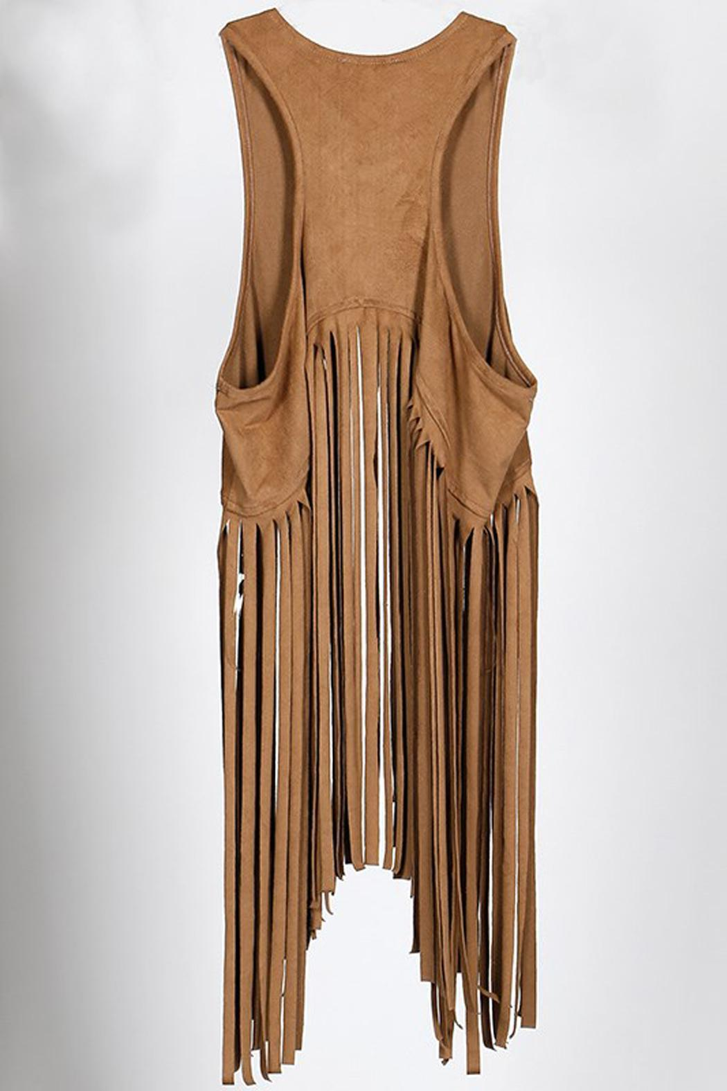 All About Me Suede Fringe Vest From New Orleans By All