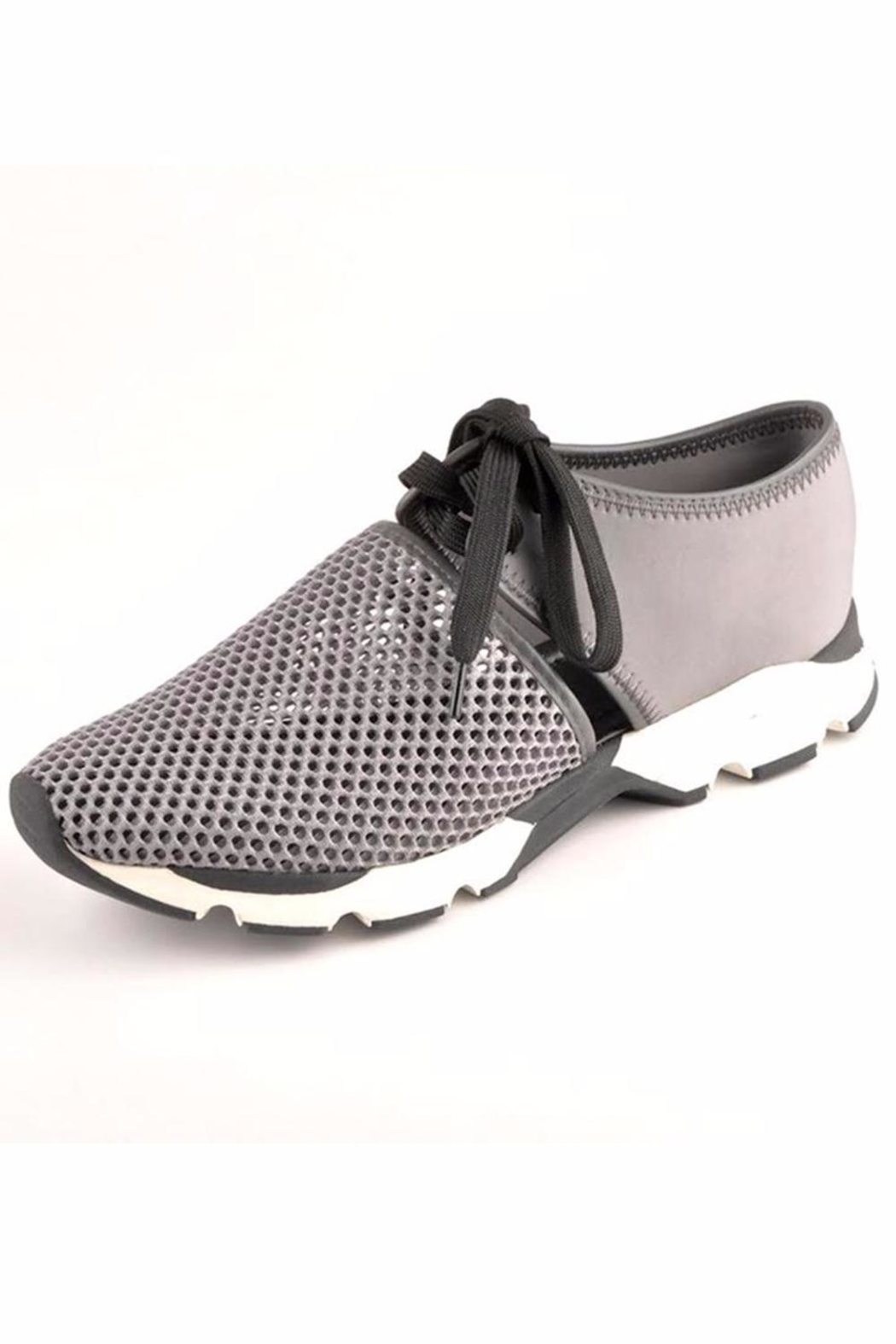 All Black Amazing Mesh Sneakers - Front Cropped Image