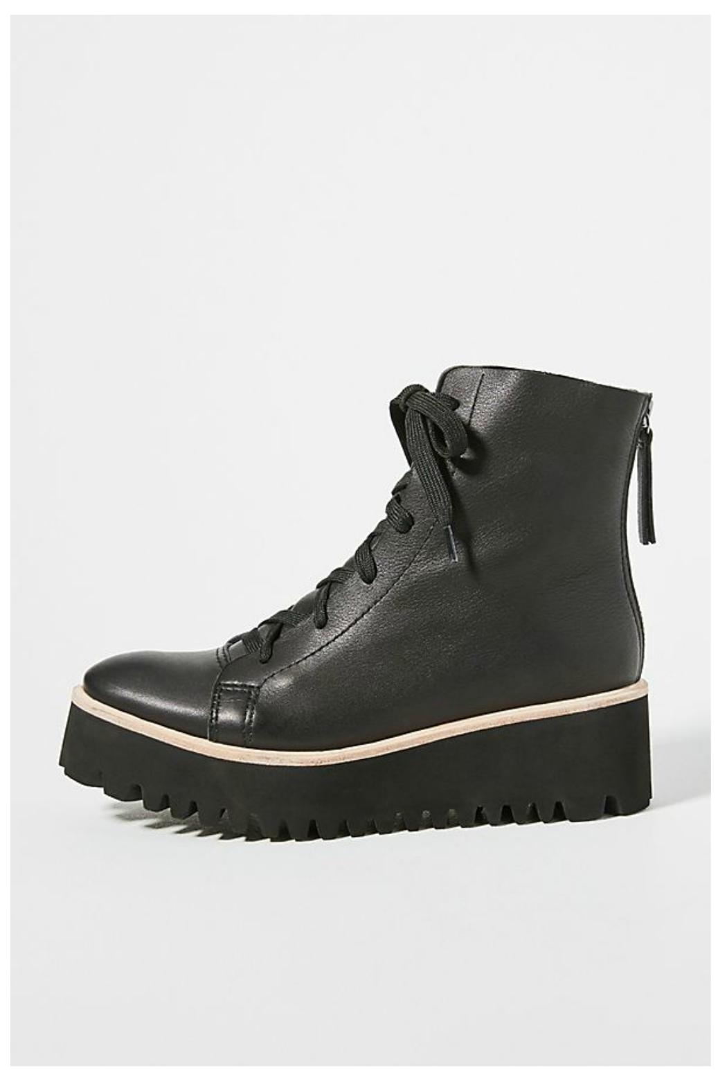 All Black Flatform Camping Boot - Main Image
