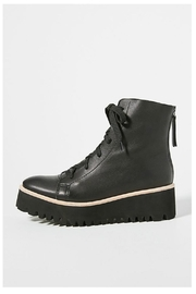 All Black Flatform Camping Boot - Front cropped