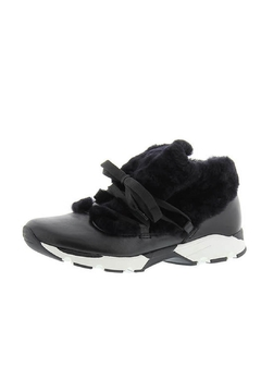 All Black Furry Sneak Sneakers - Product List Image
