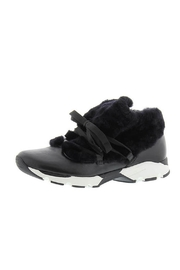 All Black Furry Sneak Sneakers - Product Mini Image