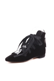 All Black Lace-Up Ballet Flats - Product Mini Image