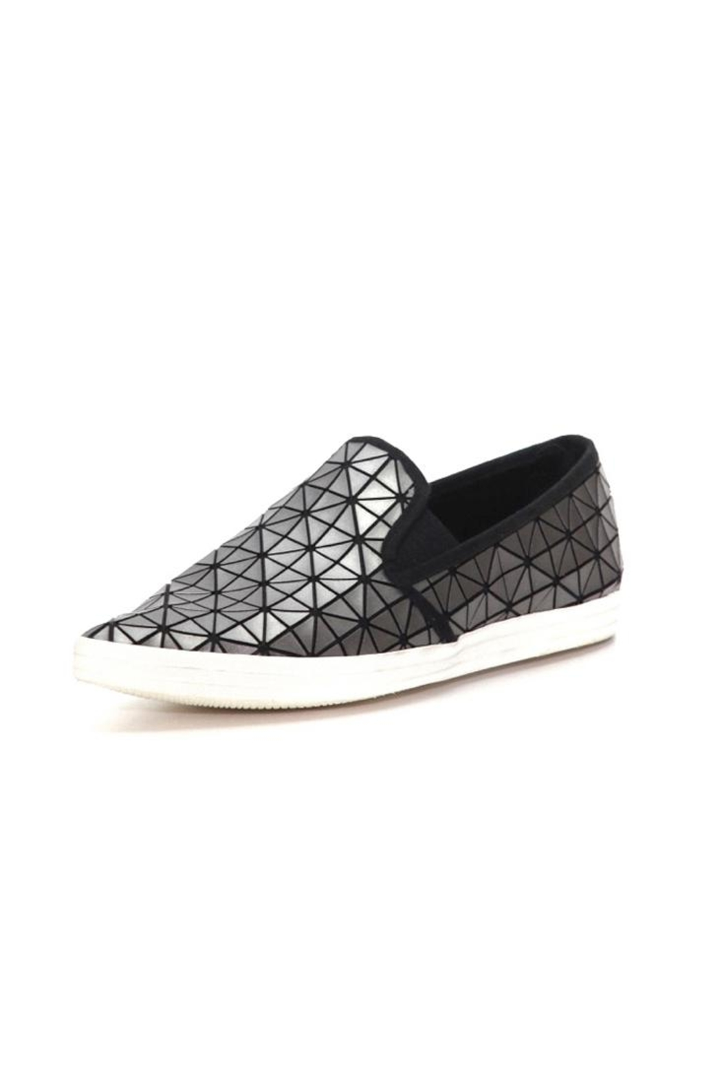 All Black Pewter Geometric Shoe - Front Cropped Image