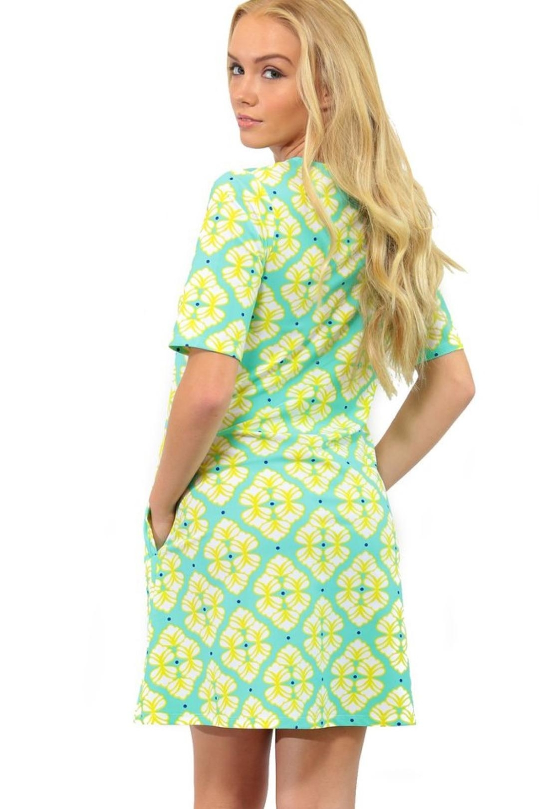 All For Color Bayshore-Lane Swing Dress - Front Full Image