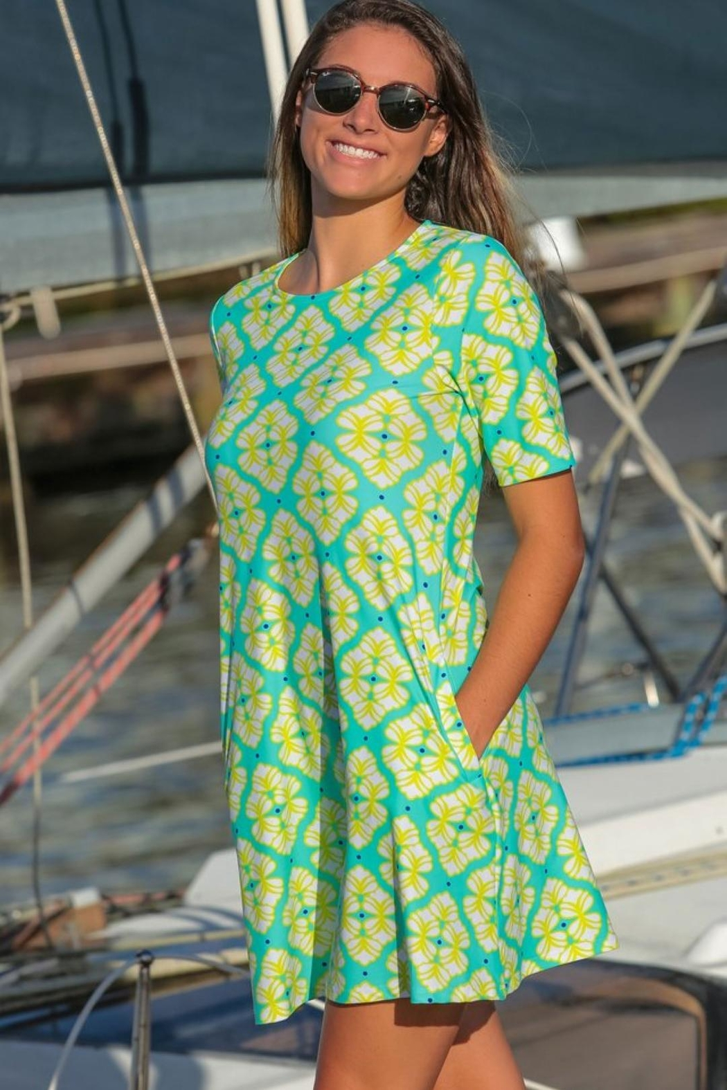 All For Color Bayshore-Lane Swing Dress - Main Image