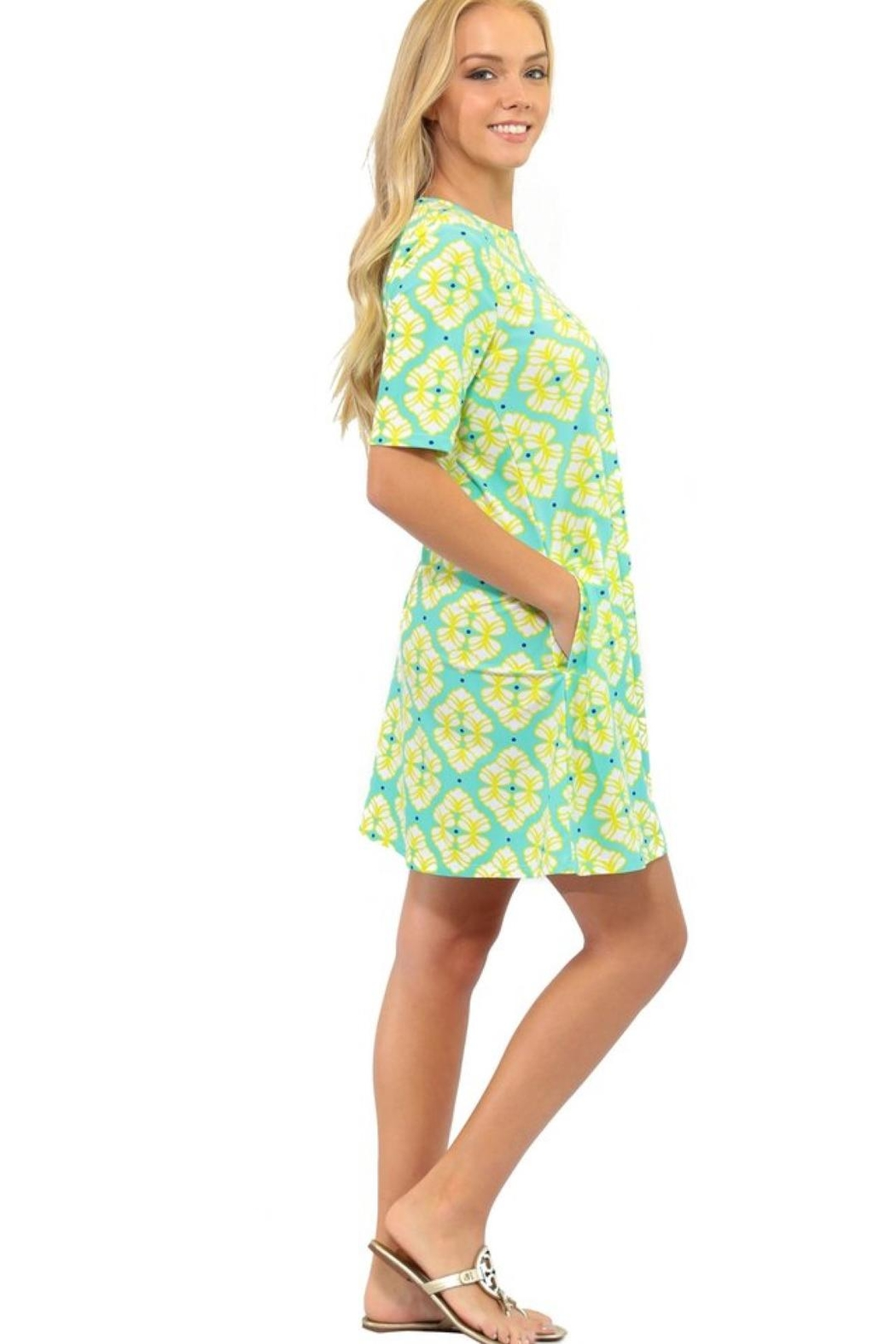 All For Color Bayshore-Lane Swing Dress - Side Cropped Image