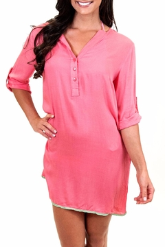 All For Color Coral Tunic Dress - Product List Image